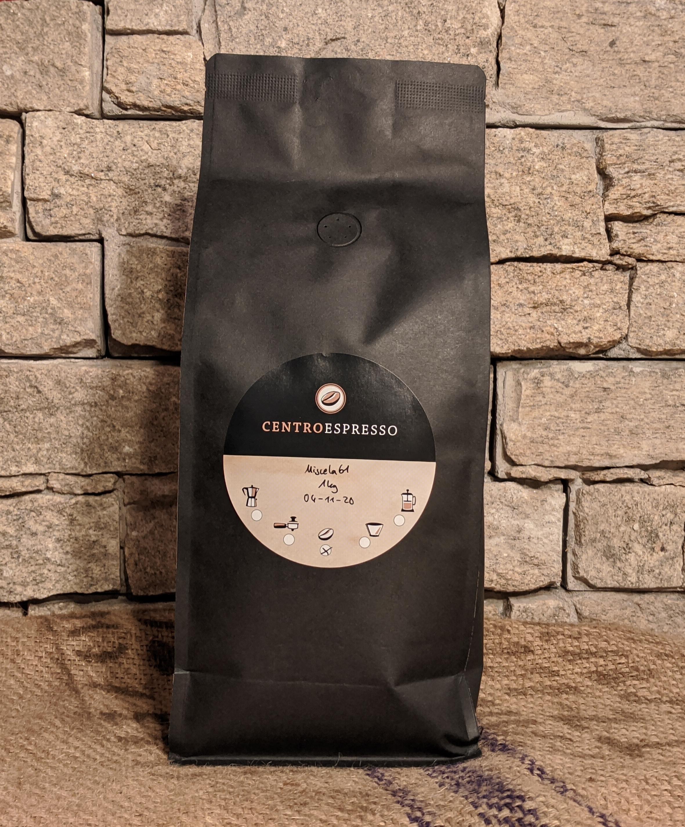 1 Kg Centro Espresso miscela 61 organic