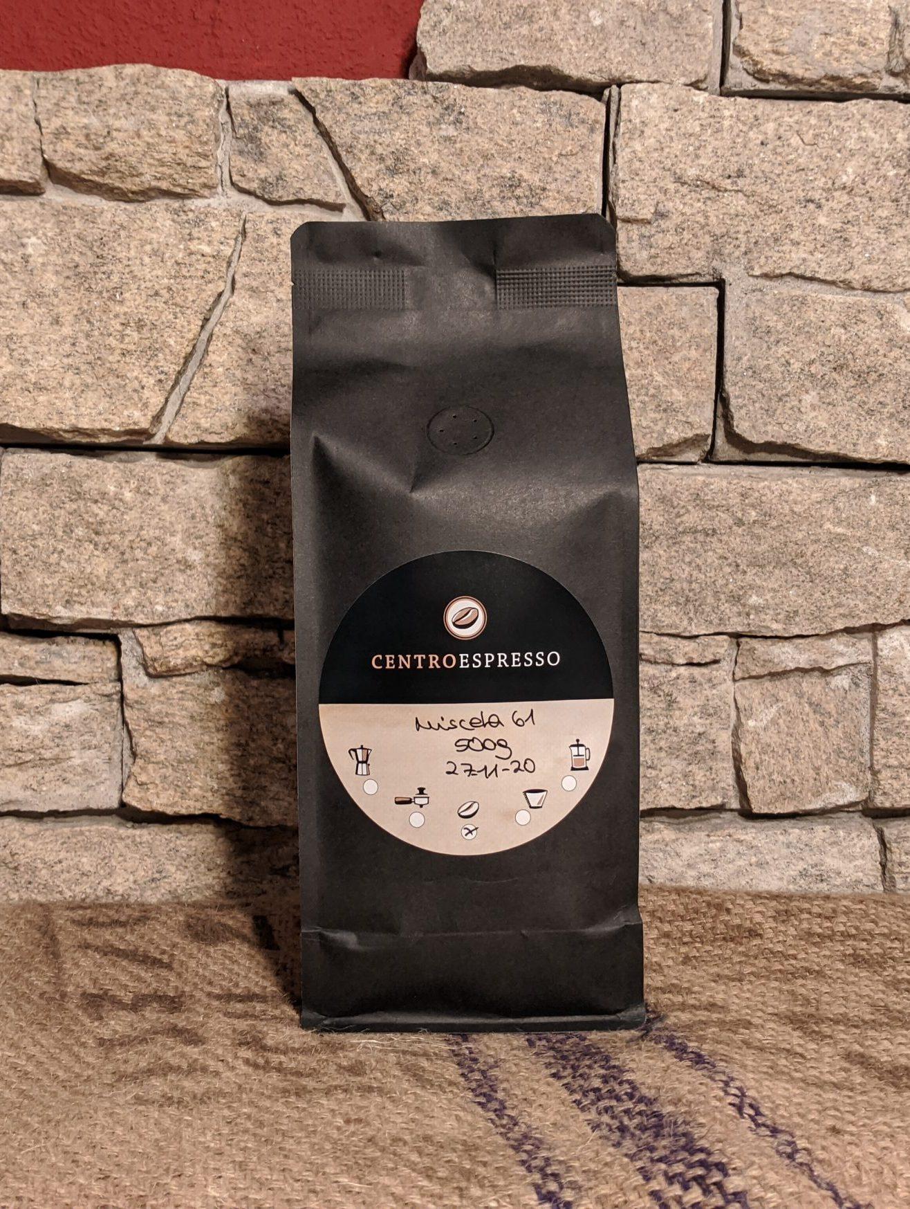 500 g Centro Espresso miscela 61 organic